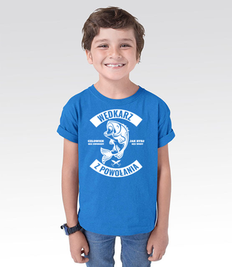 Wędkarz z powołania  - Koszulka z nadrukiem - Wędkarskie - Dziecięca