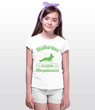 Osobista sztuka cierpliwości  - Koszulka z nadrukiem - Wędkarskie - Dziecięca
