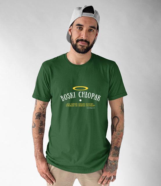 Boski chlopak oj boski koszulka z nadrukiem chrzescijanskie mezczyzna werprint 876 191