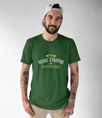 Boski chłopak, oj boski! - Koszulka z nadrukiem - chrześcijańskie - Męska
