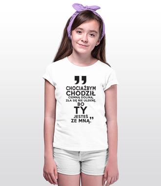 Nie ulęknę się zła, bo jesteś ze mną - Koszulka z nadrukiem - chrześcijańskie - Dziecięca