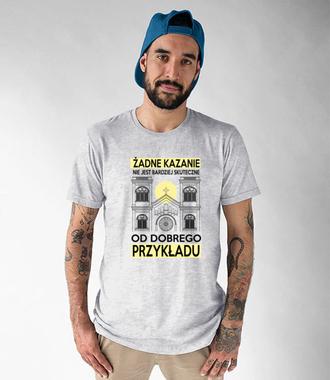 Świeć dobrym przykładem - Koszulka z nadrukiem - chrześcijańskie - Męska