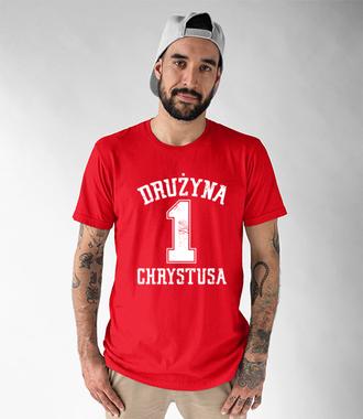 Nalezę do drużyny Chrystusa - Koszulka z nadrukiem - chrześcijańskie - Męska