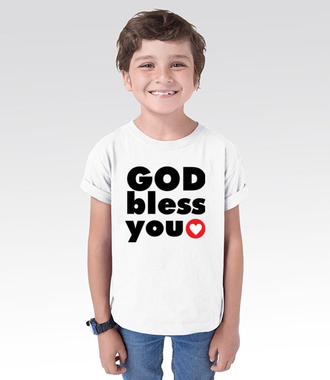 Pan z Tobą! Miej go w sercu. - Koszulka z nadrukiem - chrześcijańskie - Dziecięca