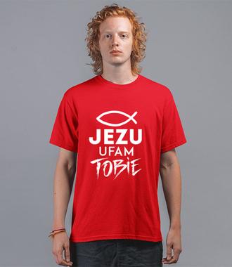 Jezu ufam Tobie… - Koszulka z nadrukiem - chrześcijańskie - Męska
