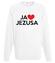 Kocham go kocham jezusa bluza z nadrukiem chrzescijanskie mezczyzna werprint 897 106