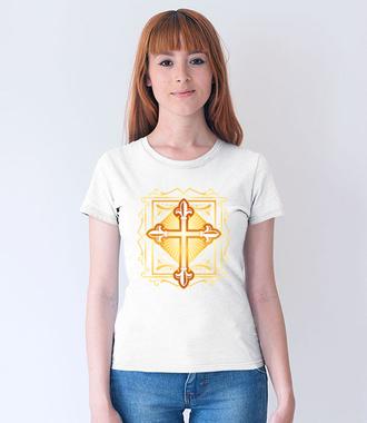 Krzyż. Symbol i coś więcej - Koszulka z nadrukiem - chrześcijańskie - Damska
