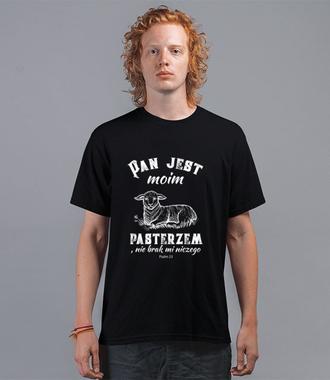 Pan mym pasterzem... - Koszulka z nadrukiem - chrześcijańskie - Męska