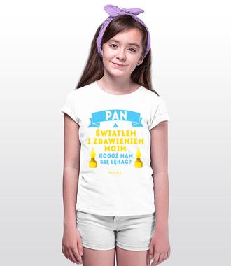 Światłem, zbawieniem, ostoją... - Koszulka z nadrukiem - chrześcijańskie - Dziecięca