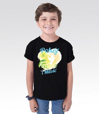 Pokój i miłość - Koszulka z nadrukiem - chrześcijańskie - Dziecięca