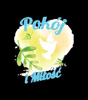 Pokoj i milosc grafika na koszulke dziecieca 907