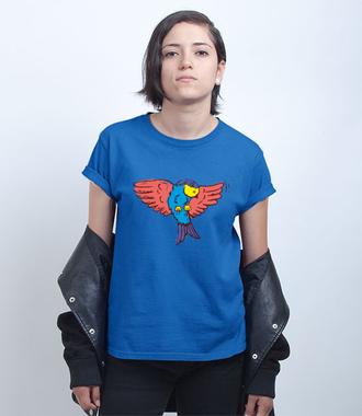Aż do nieba! Fruwający t-shirt - Koszulka z nadrukiem - Zwierzęta - Damska