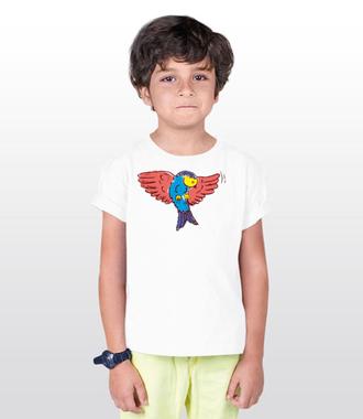 Aż do nieba! Fruwający t-shirt - Koszulka z nadrukiem - Zwierzęta - Dziecięca