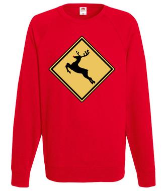 Nie bądź jeleń, kup koszulkę - Bluza z nadrukiem - Świąteczne - Męska