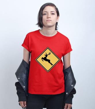 Nie bądź jeleń, kup koszulkę - Koszulka z nadrukiem - Świąteczne - Damska