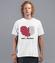 Milosc proces ladowania koszulka z nadrukiem na walentynki mezczyzna werprint 928 40