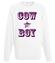 Kowboj czy cow boy bluza z nadrukiem smieszne mezczyzna werprint 944 106