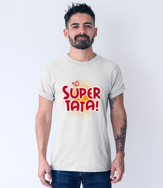Super tata, super gość - Koszulka z nadrukiem - Dla Taty - Męska