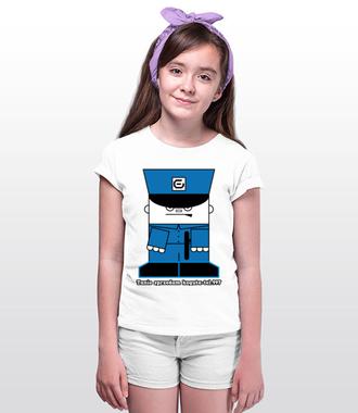 Tak jest! Panie policjancie! - Koszulka z nadrukiem - Śmieszne - Dziecięca