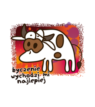 Krowa z humorem grafika na koszulke damska 954