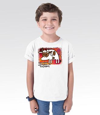 Krowa z humorem - Koszulka z nadrukiem - Zwierzęta - Dziecięca