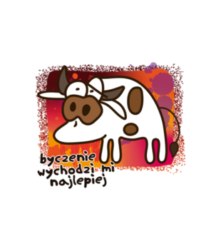 Krowa z humorem grafika na koszulke dziecieca 954