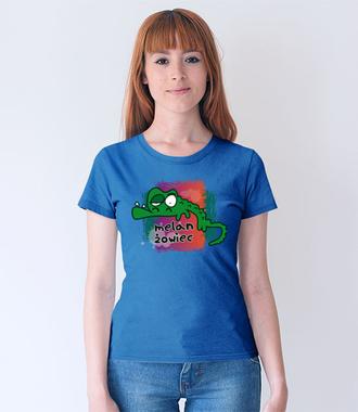 Z humorem przez życie - Koszulka z nadrukiem - Zwierzęta - Damska