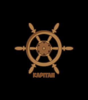 Swym kapitanem sterem okretem grafika na koszulke dziecieca 956