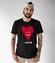 Z pelni mojego serca koszulka z nadrukiem na walentynki mezczyzna werprint 965 46