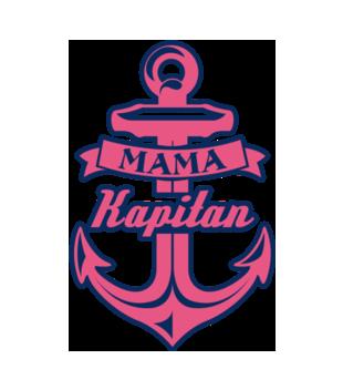 Mama kapitan grafika na koszulke damska 967