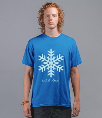 Niech pada śnieg! - Koszulka z nadrukiem - Świąteczne - Męska