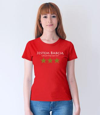 Moja super moc - BABCIA - Koszulka z nadrukiem - Dla Babci - Damska