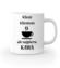 Najpierw kawa klient poczeka kubek z nadrukiem praca gadzety werprint 1017 159