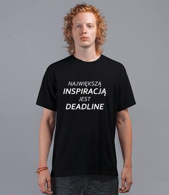 Deadline, powrót inspiracji - Koszulka z nadrukiem - Praca - Męska