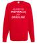 Deadline powrot inspiracji bluza z nadrukiem praca mezczyzna werprint 1020 108