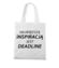 Deadline powrot inspiracji torba z nadrukiem praca gadzety werprint 1019 161