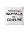 Deadline powrot inspiracji poduszka z nadrukiem praca gadzety werprint 1019 164