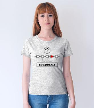 Przestój na sortowni - Koszulka z nadrukiem - Praca - Damska