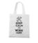Keep calm work hard torba z nadrukiem praca gadzety werprint 1035 161