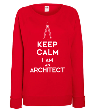 Keep calm, i am architect! - Bluza z nadrukiem - Praca - Damska
