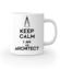 Keep calm i am architect kubek z nadrukiem praca gadzety werprint 1041 159