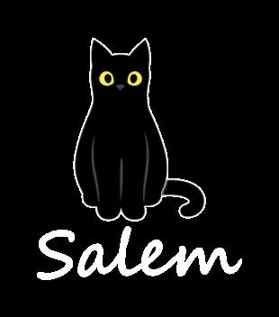 Salem kot z magia grafika na bluze dziecieca 1062