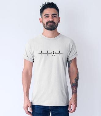 W żyłach piłkarska płynie krew - Koszulka z nadrukiem - Sport - Męska
