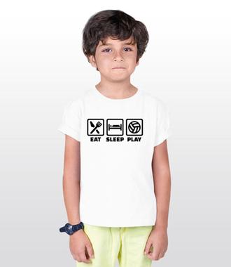 Jeść, pić, spać i grać! - Koszulka z nadrukiem - Sport - Dziecięca