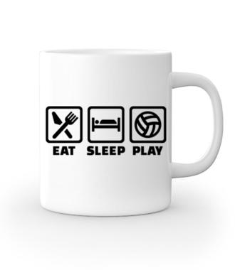 Jeść, pić, spać i grać! - Kubek z nadrukiem - Sport - Gadżety