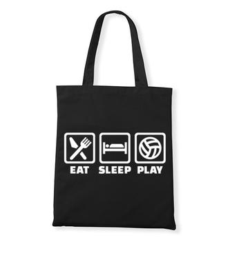 Jeść, pić, spać i grać! - Torba z nadrukiem - Sport - Gadżety