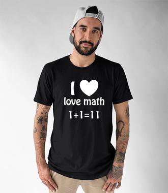 Matematyka moją miłością - Koszulka z nadrukiem - Szkoła - Męska
