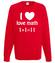 Matematyka moja miloscia bluza z nadrukiem szkola mezczyzna werprint 1082 108