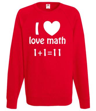 Matematyka moją miłością - Bluza z nadrukiem - Szkoła - Męska