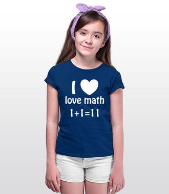 Matematyka moją miłością - Koszulka z nadrukiem - Szkoła - Dziecięca
